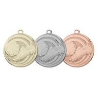Een medaille met voetbalschoen