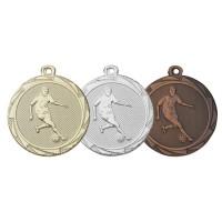 Een medaille met voetballer