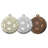 Een voetbal op medaille